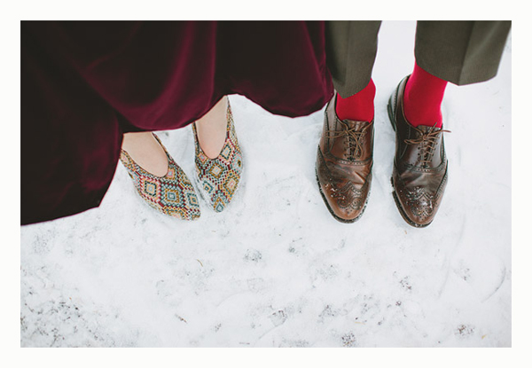 shoes in winter { bridalmusings}
