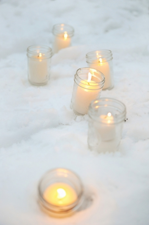 winter tealights {ruffled}