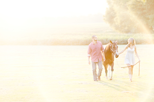 horse engagement shoot