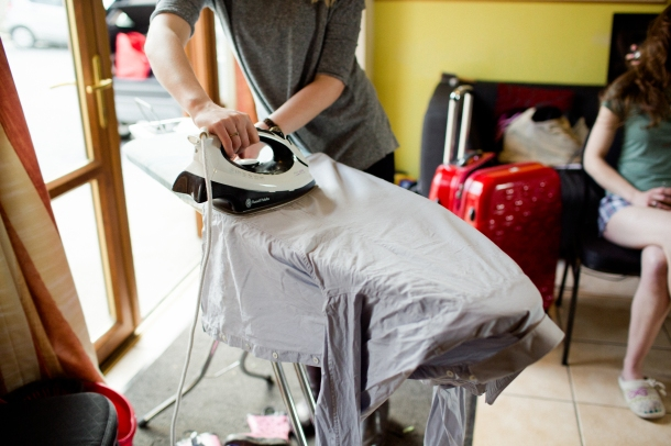 wedding ironing