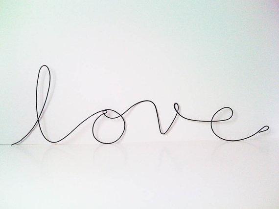 Etsy love wire sataras wire